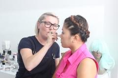 MUA belga con Emili Guillermin de Alemania Kryolan